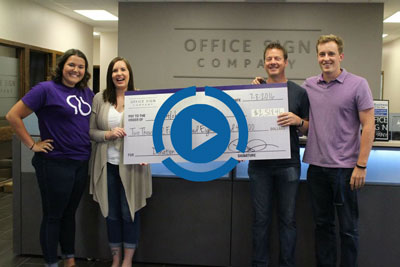 Office Sign Company Alzheimer's Donation Video