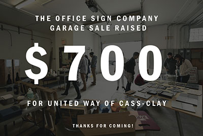 Office Sign Company United Way Donation Video