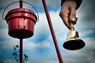 Office Sign Company Volunteers with Salvation Army Bell Ringing
