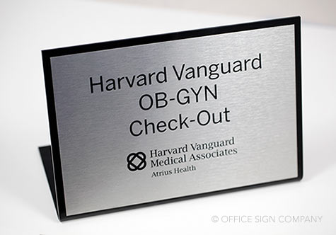 interior office signs desk name plates standing check