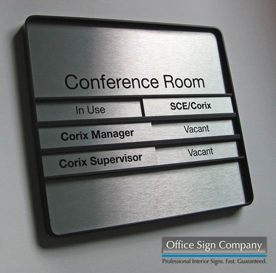conference room signs sliding meeting room signs in