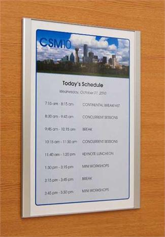 8 5 Quot X 11 Quot Message Displays Insert Signs Letter Sized