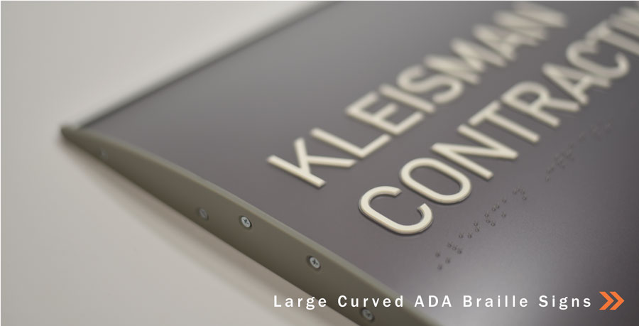 Curved ADA Braille Signs for your Business