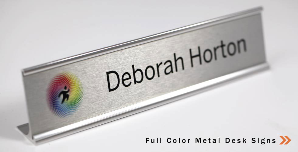 Full Color Metal Desk Signs