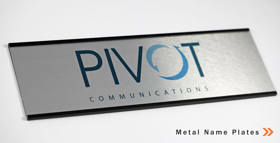 Name Plates Metal Office Signs