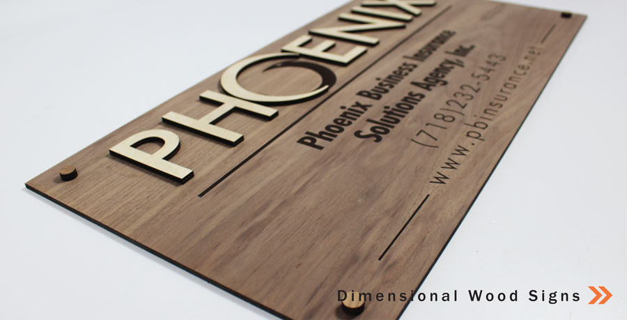 Dimensional Wood Signs